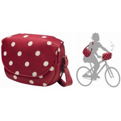 Sacoche de guidon Fun Bag KLICKfix Rouge à pois