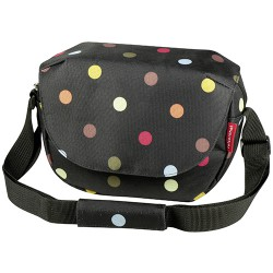 Sacoche de guidon Fun Bag KLICKfix Noir à pois couleurs