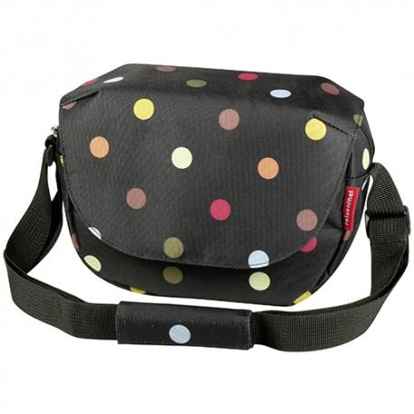 Sacoche de guidon Fun Bag KLICKfix Noir à pois couleurs