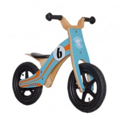 "Draisienne Rebel Kidz 12"" Wood Air Bleu"
