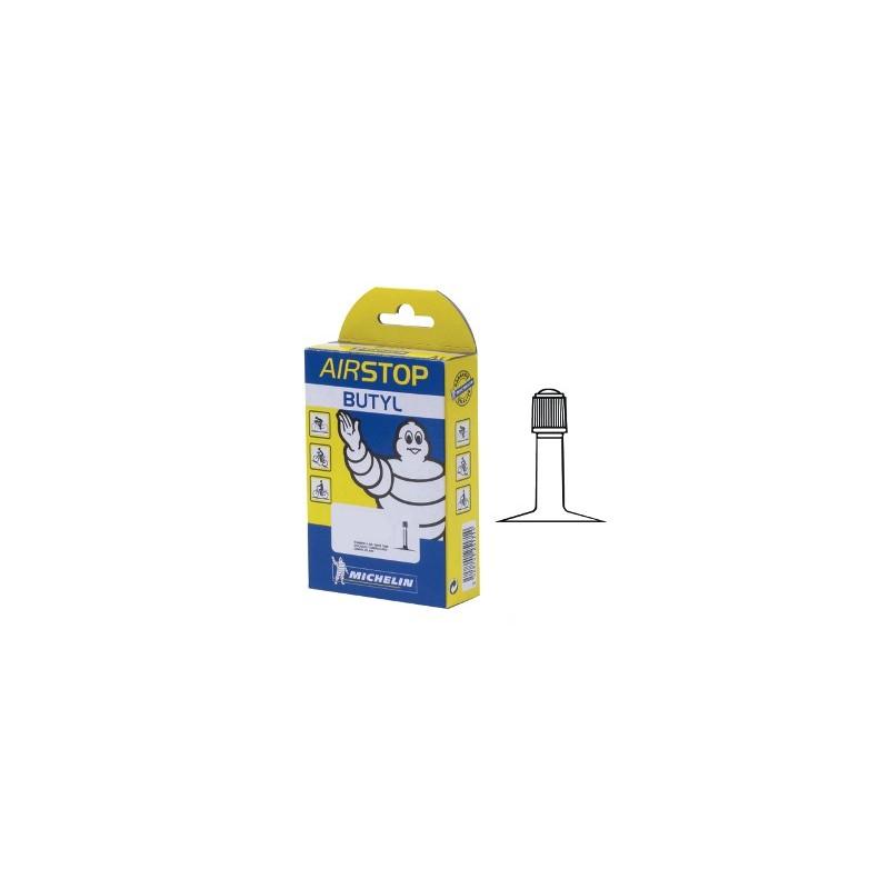 Chambres air michelin air stop butyl valve schrader for Chambre a air velo